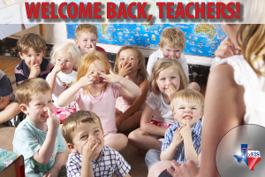 Welcome back, teachers image