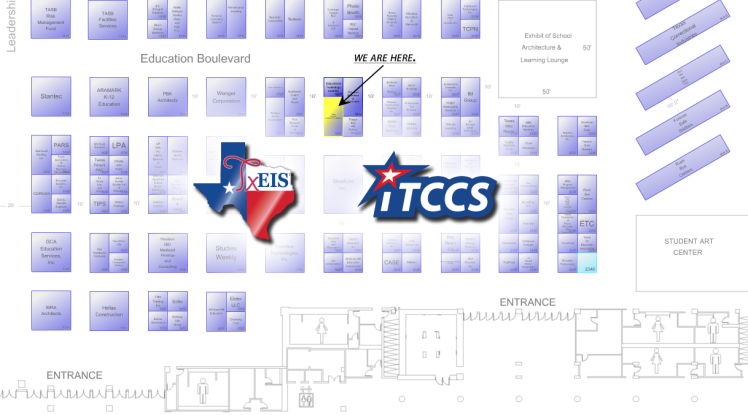 TASA/TASB TCC Booth Location Map